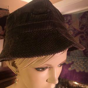 Avon brown corduroy hobo bucket hat